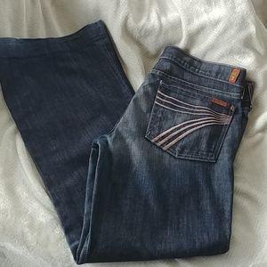7 For All Mankind Dojo wide leg jeans size 31